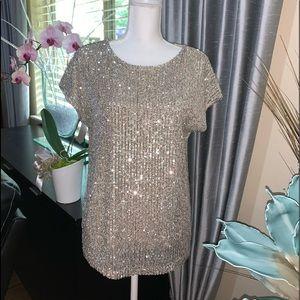 Rachel Zoe Sequin shortsleeved blouse